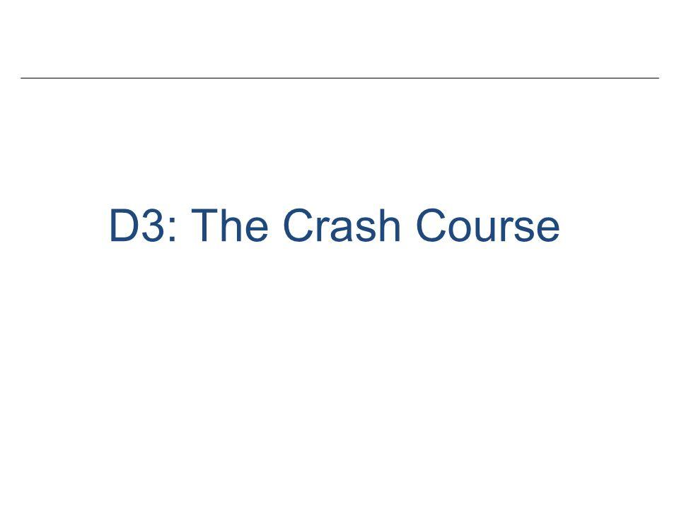 D3: The Crash Course