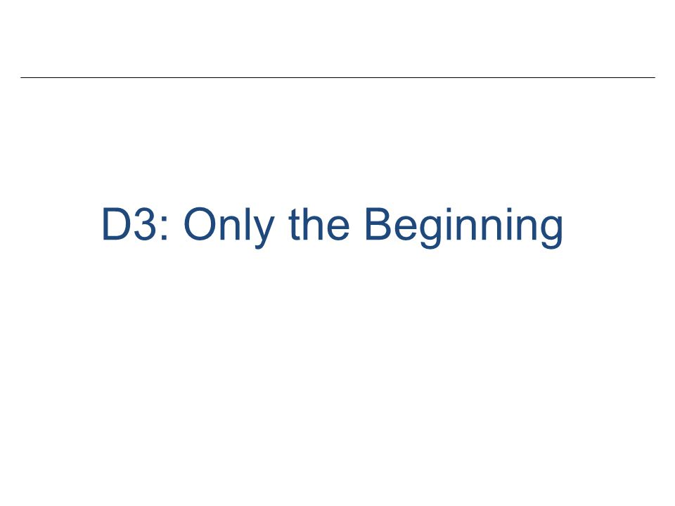 D3: Only the Beginning