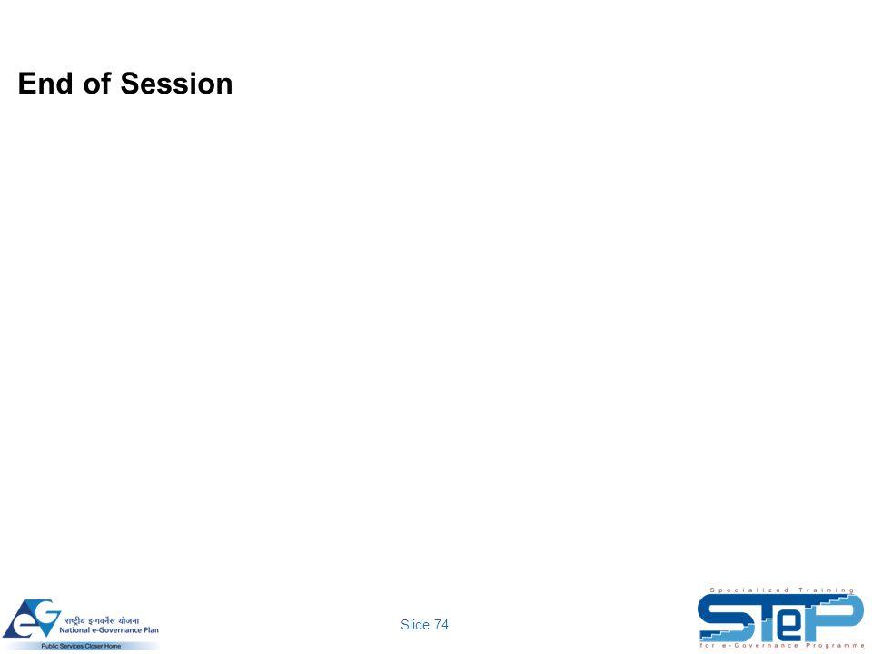 Slide 74 End of Session