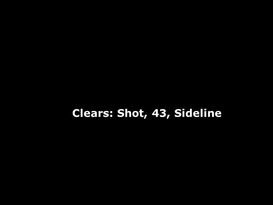 Clears: Shot, 43, Sideline