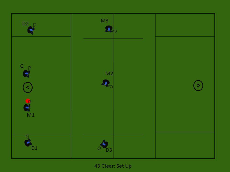 D1 D2 M1 G M3 M2 D3 43 Clear: Set Up