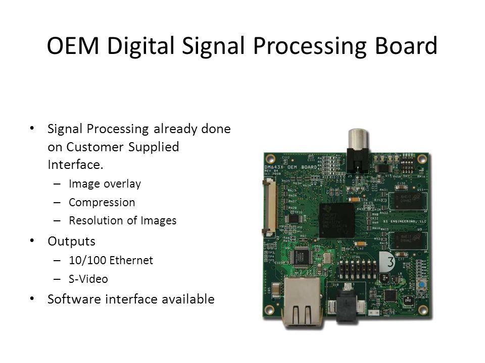 OEM Digital Signal Processing Board Signal Processing already done on Customer Supplied Interface.