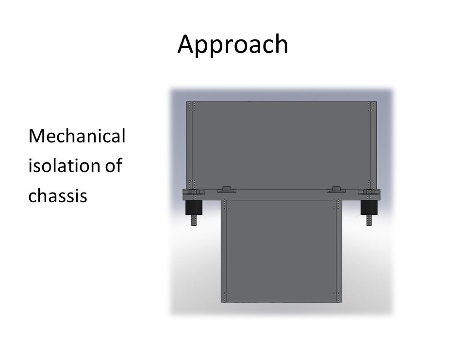 Approach Mechanical isolation of chassis