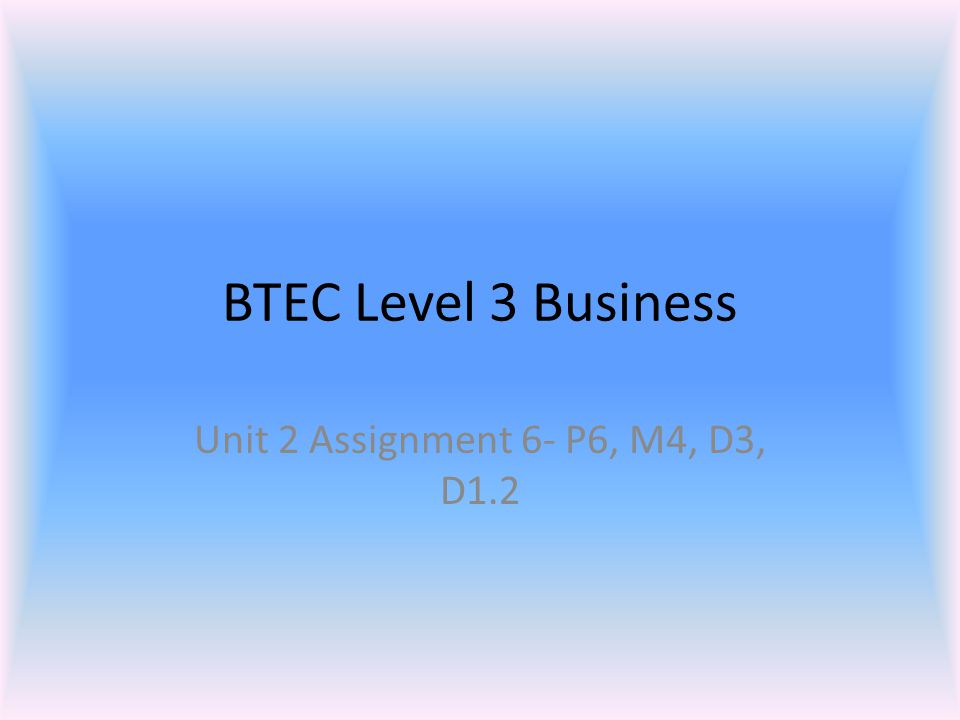 btec buisness level 3 unit 1 Unit 19: developing teams in business unit code: t/502/5450 unit content 1 know the importance of teams edexcel btec level 3 nationals specification in business 5.