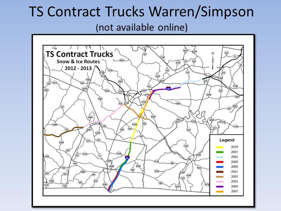 TS Contract Trucks Warren/Simpson ( not available online)