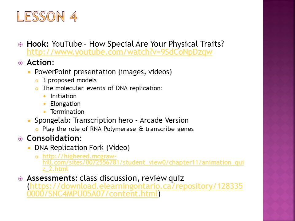  Hook: YouTube – How Special Are Your Physical Traits.