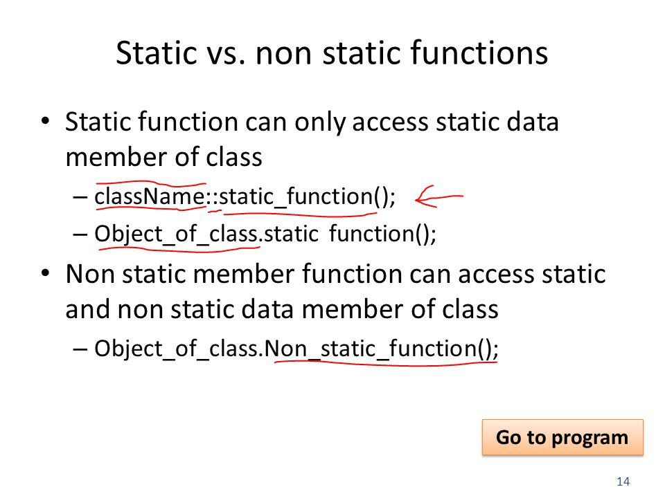 14 Static vs.