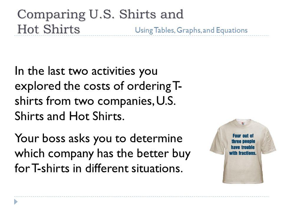 Comparing U.S.