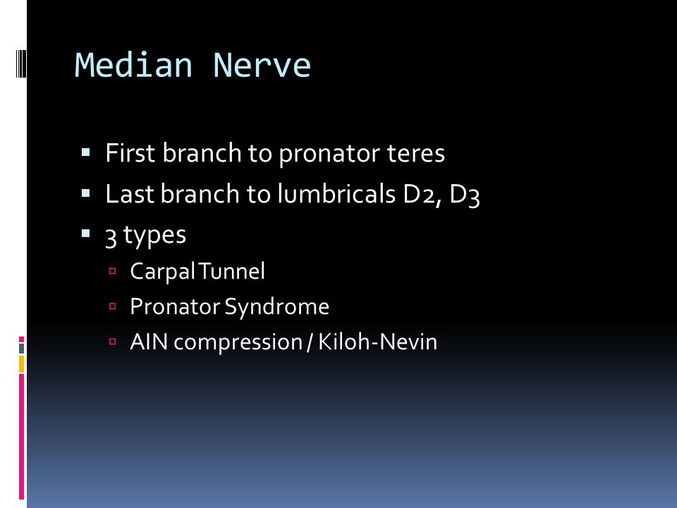 Ulnar Tunnel Syndrome  Guyon's Canal  Between pisiform and hamate hook  Pisohamate ligament and volar carpal ligament superiorly  Ulnar nerve and artery  Causes  Ganglion, hook non union, artery thrombosis, anomalous muscle, palmaris brevis hypertrophy