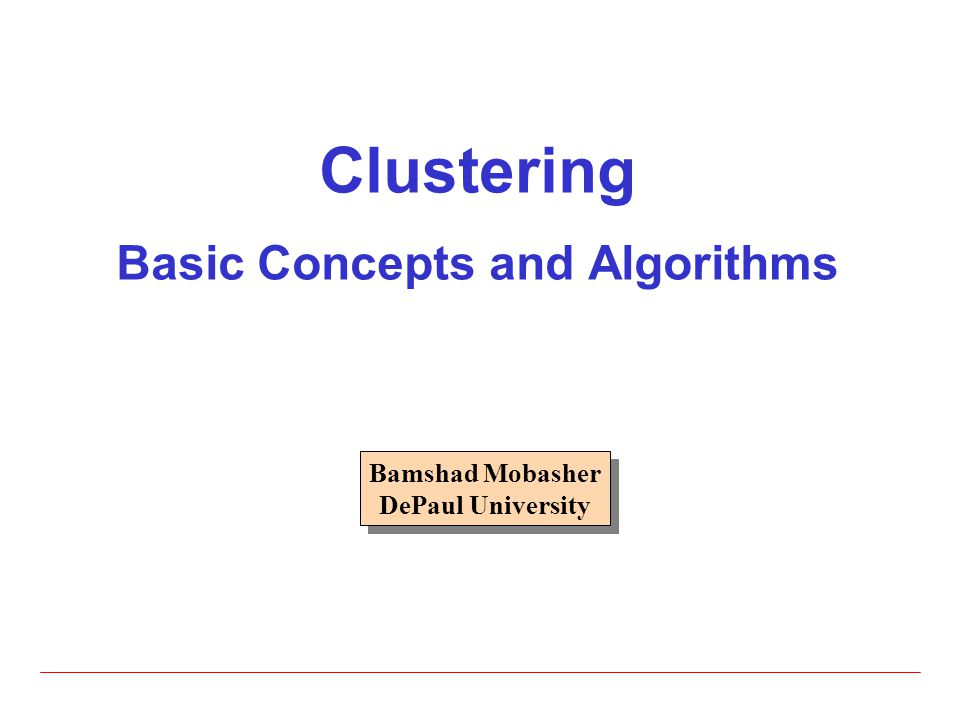 22 Single Link Method  The distance between two clusters is the distance between two closest data points in the two clusters, one data point from each cluster  It can find arbitrarily shaped clusters, but  It may cause the undesirable chain effect due to noisy points Two natural clusters are split into two