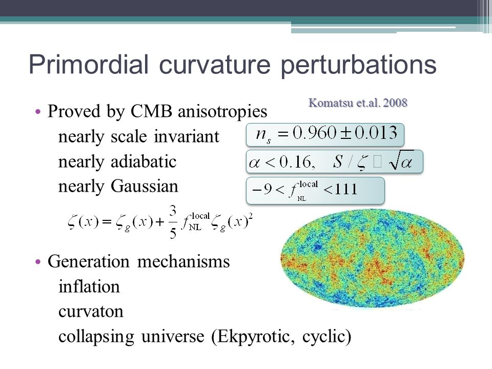 Generation of curvature perturbations Delta N formalism curvature perturbations on superhorizon scales = fluctuations in local e-folding number Starobinsky ;85, Stewart&Sasaki '95