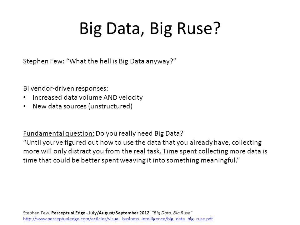 Big Data, Big Ruse.