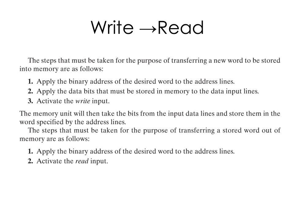 Write →Read