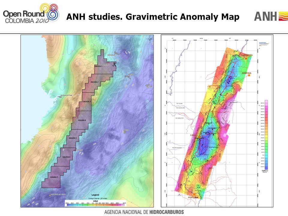 ANH studies. Gravimetric Anomaly Map