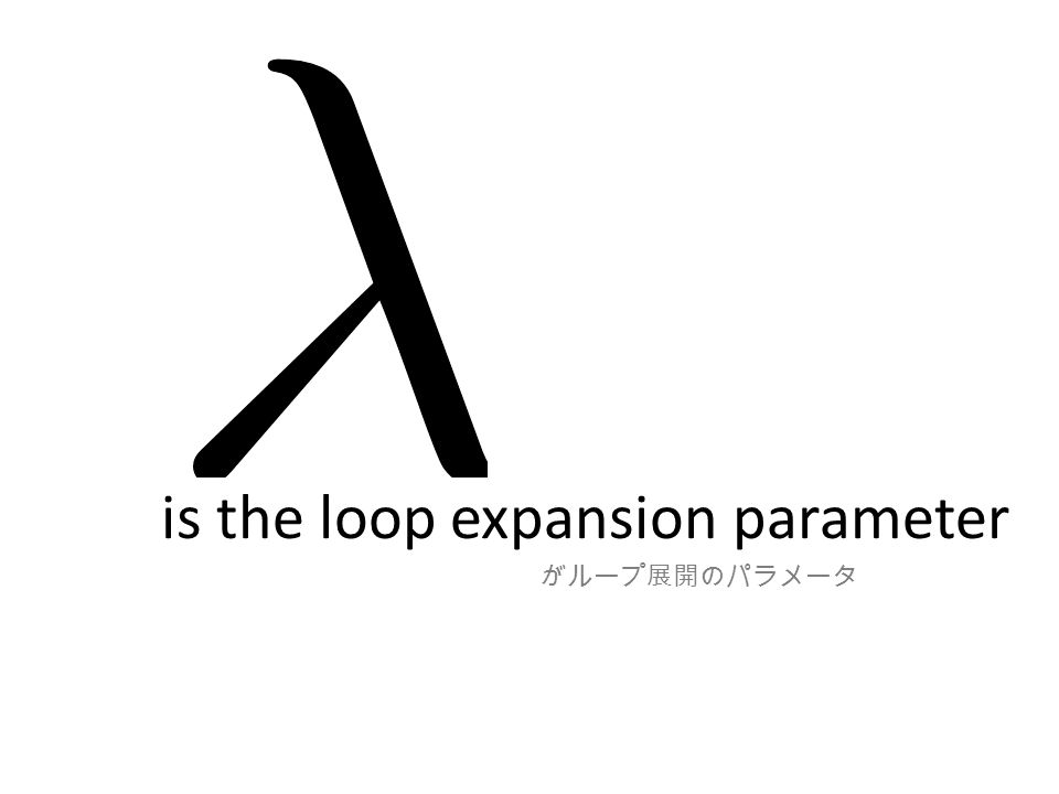 is the loop expansion parameter がループ展開のパラメータ