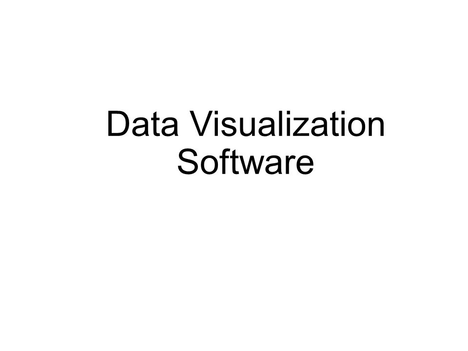 Data Visualization Software