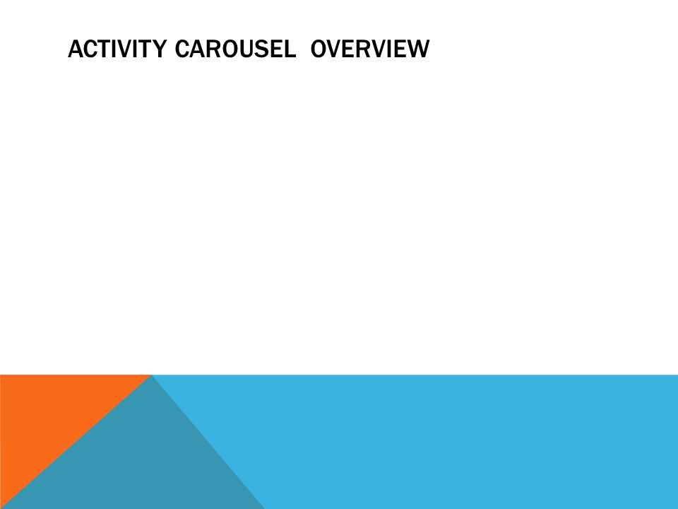 ACTIVITY CAROUSEL OVERVIEW