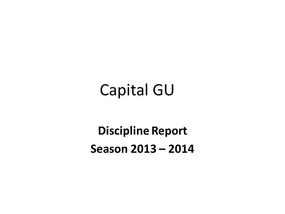 Capital GU Discipline Report Season 2013 – 2014