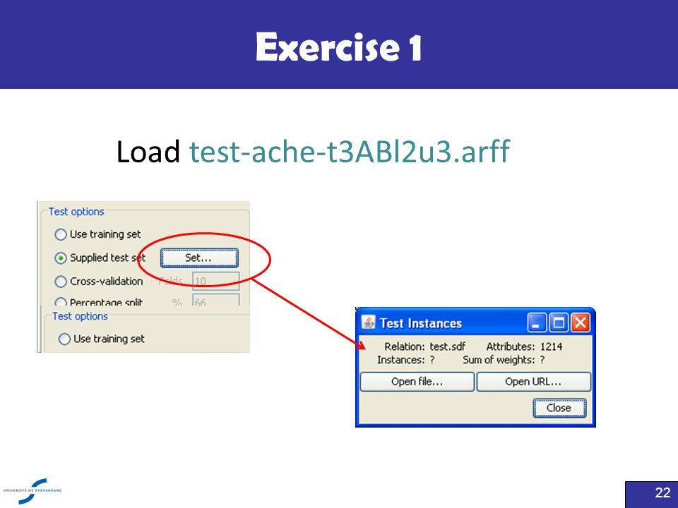 Exercise 1 22 Load test-ache-t3ABl2u3.arff