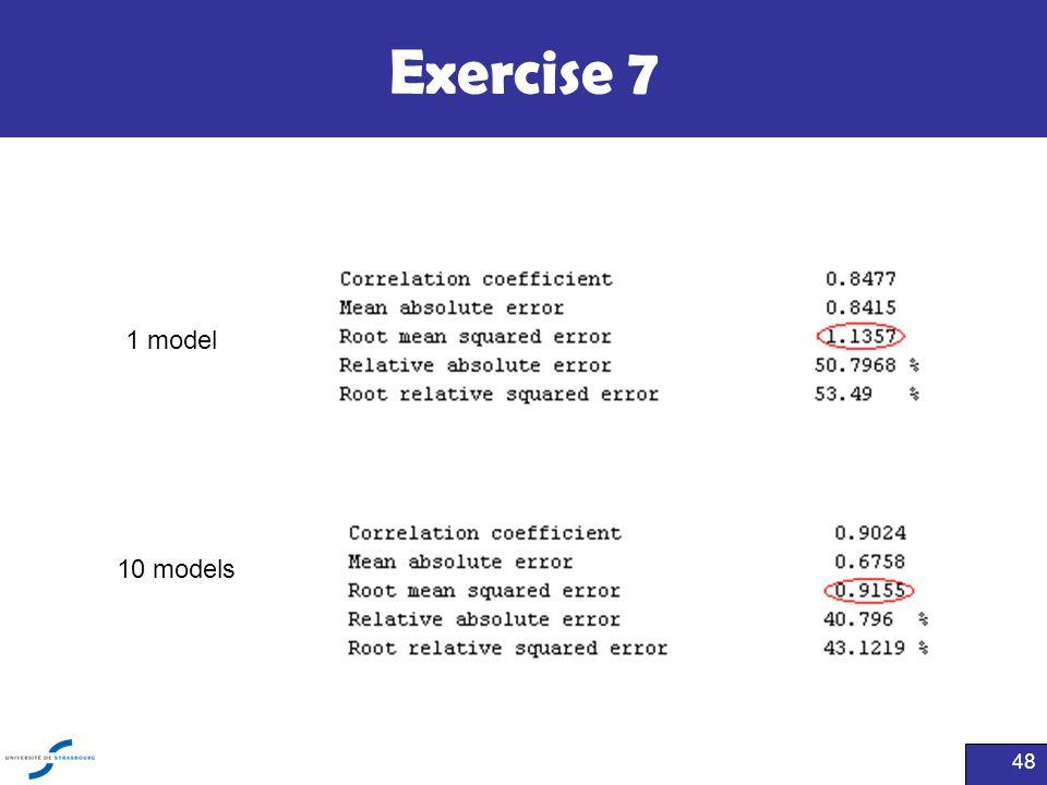 Exercise 7 48 1 model 10 models