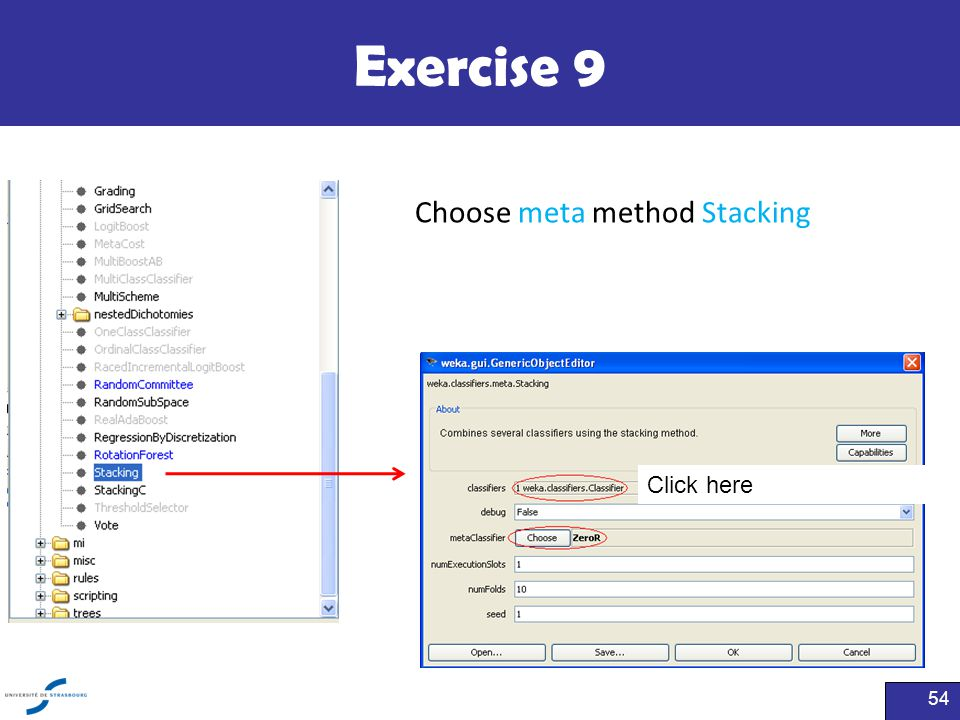 Exercise 9 54 Choose meta method Stacking Click here
