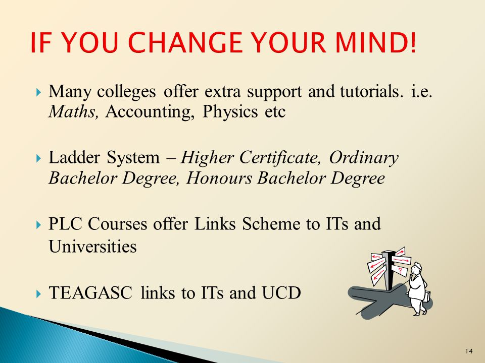 15 Students Progressing to 3 rd Level Education can apply for Level 6, 7 & 8 Courses