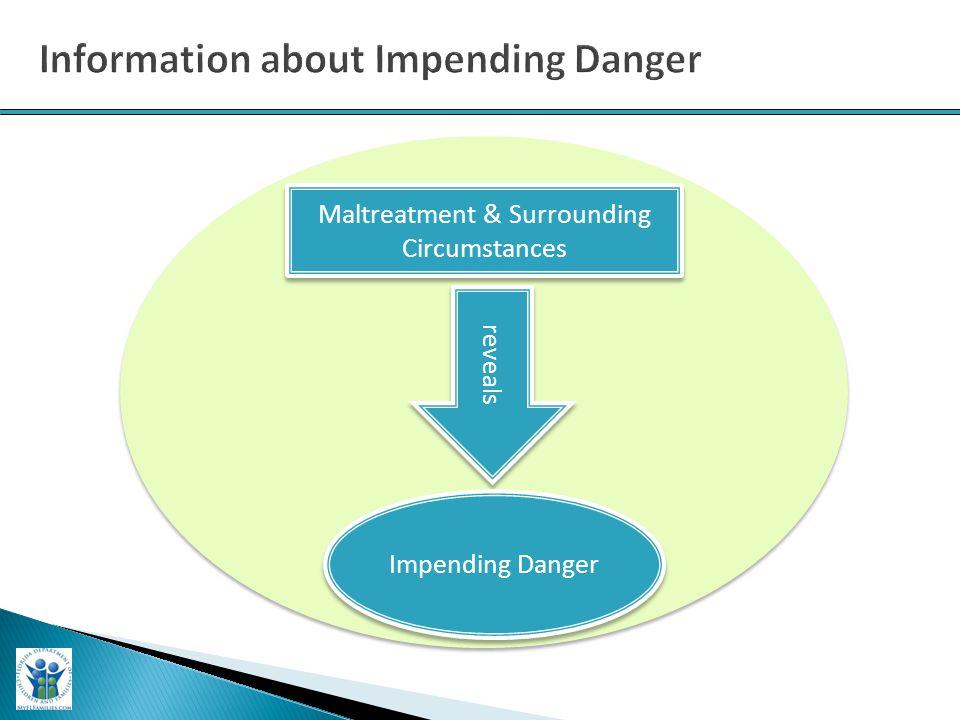 Maltreatment & Surrounding Circumstances reveals Impending Danger