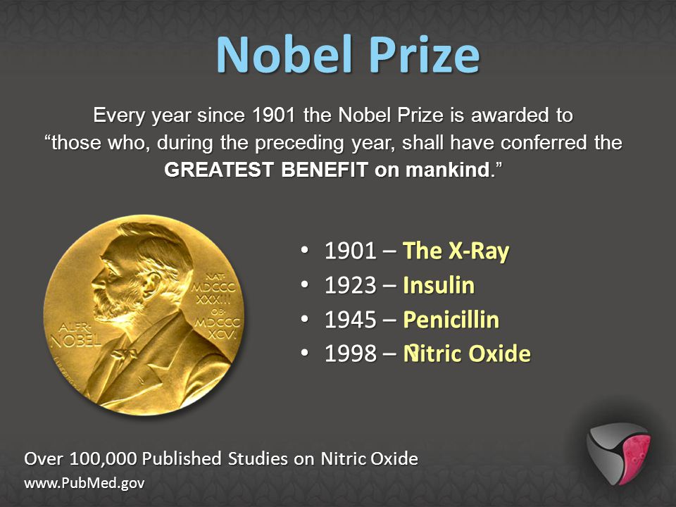 """Every year since 1901 the Nobel Prize is awarded to """"those who, during the preceding year, shall have conferred the GREATEST BENEFIT on mankind."""" Over"""