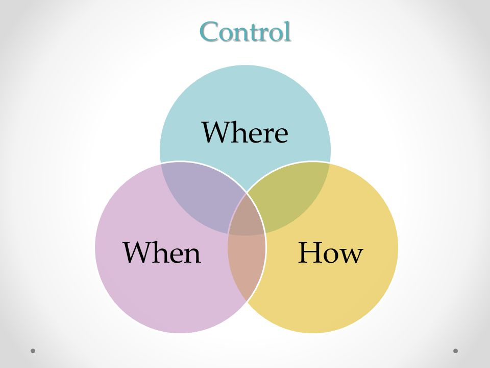 Control Where HowWhen