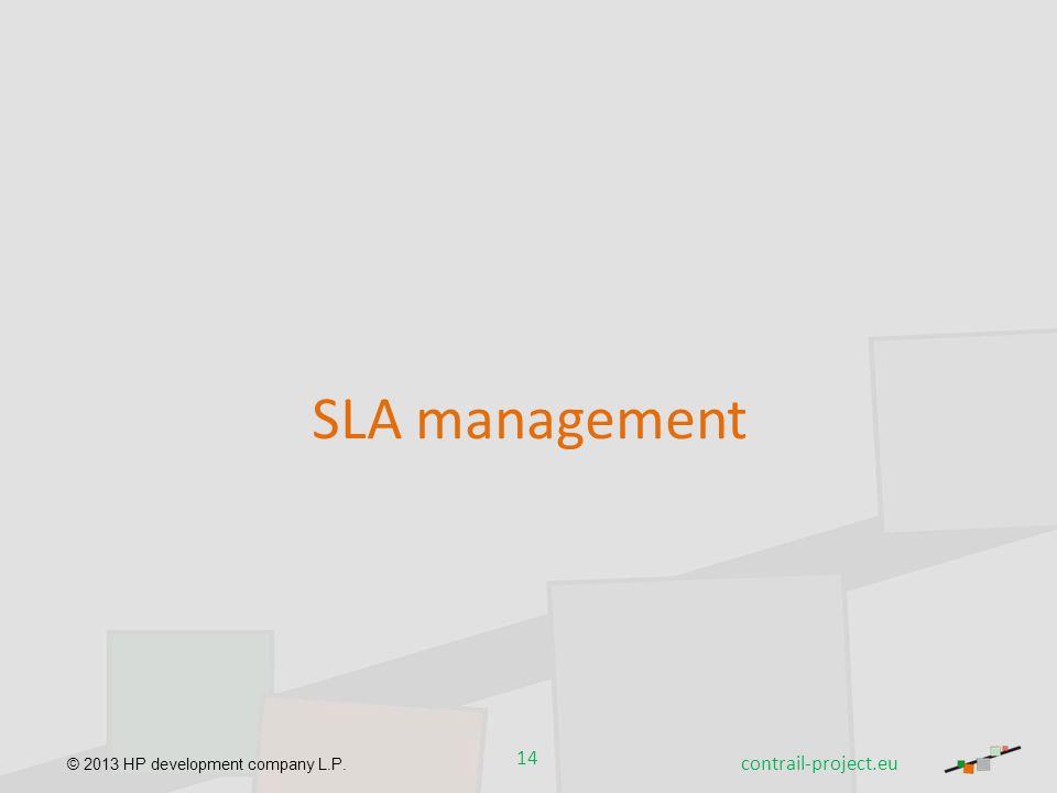 © 2013 HP development company L.P. 14 contrail-project.eu SLA management