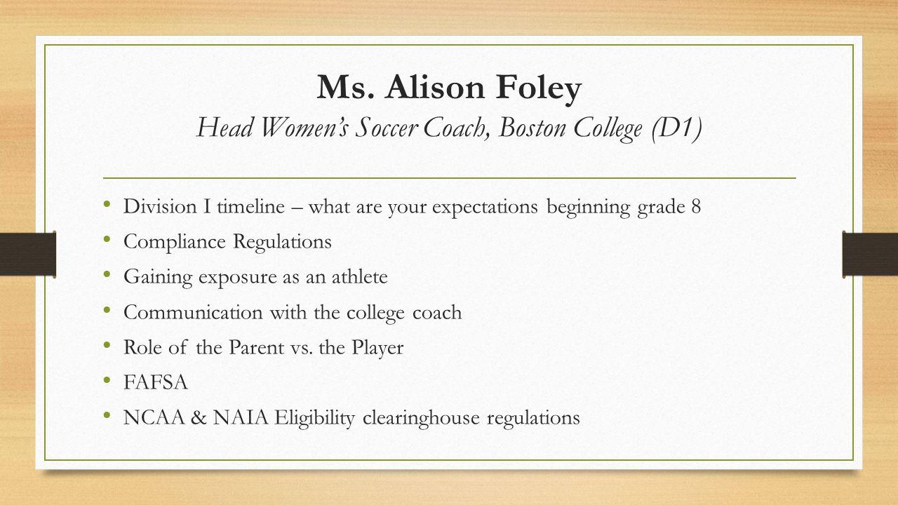 Ms.Shelly Morris Head Field Hockey Coach, Stonehill College (D2) Division I vs.