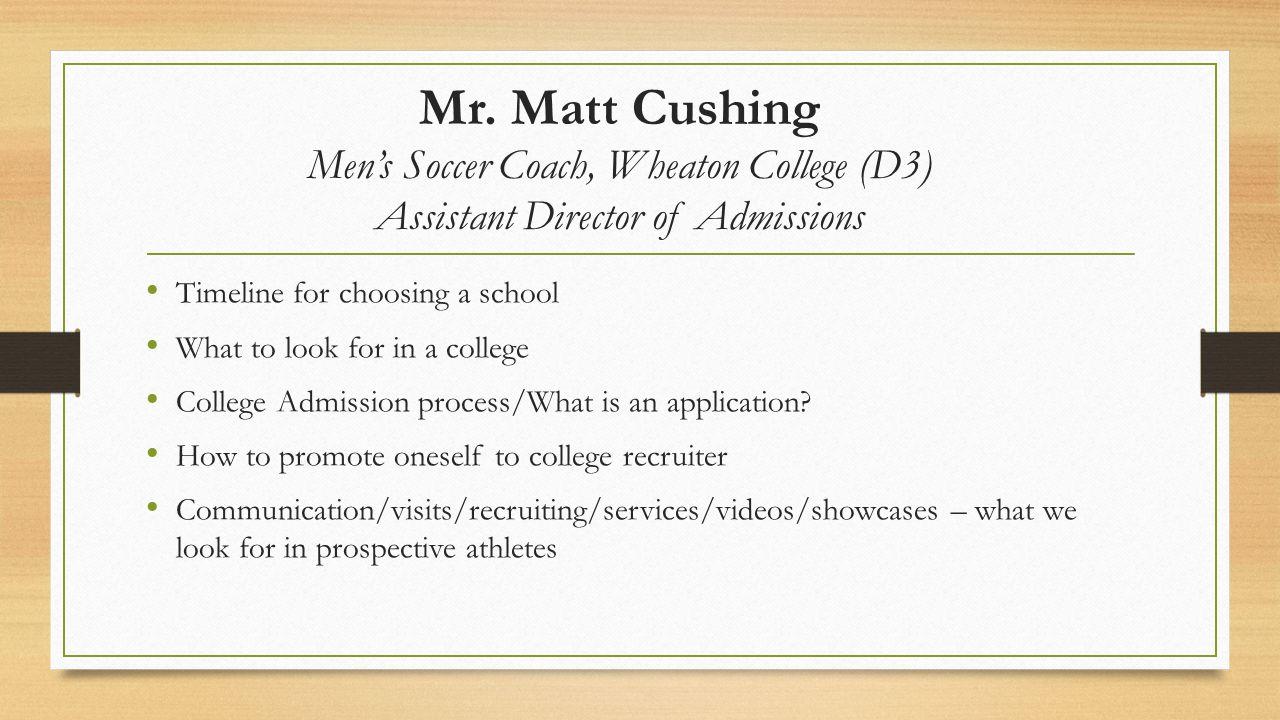 Mr.Ben Warnick Assistant Director of Athletics at Massasoit Community College (Jr.