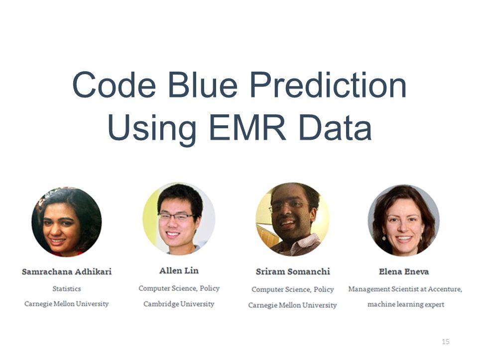 15 Code Blue Prediction Using EMR Data