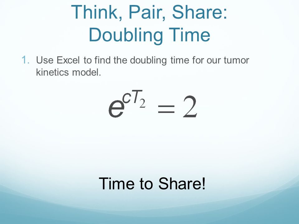 Doubling Time I forget how to do this! WolframAlpha
