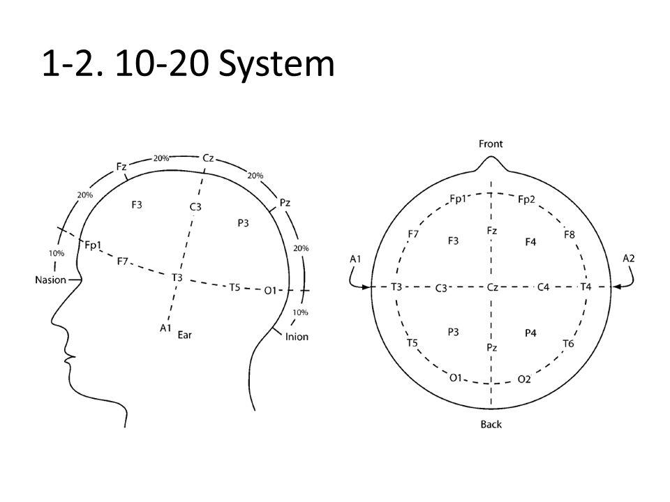 1-3. EEG signal: 20 seconds, 128Hz