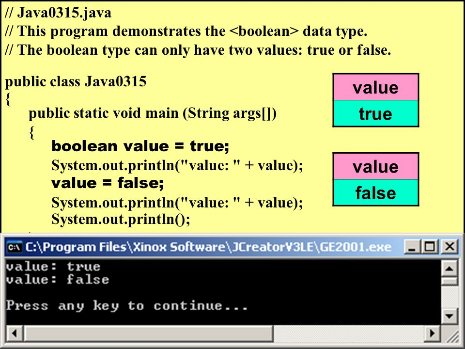 // Java0315.java // This program demonstrates the data type.