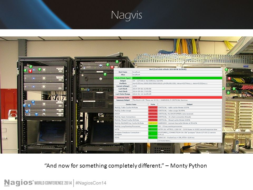"""Nagvis """"And now for something completely different."""" – Monty Python"""