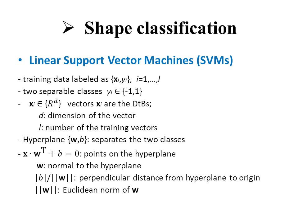  Shape classification