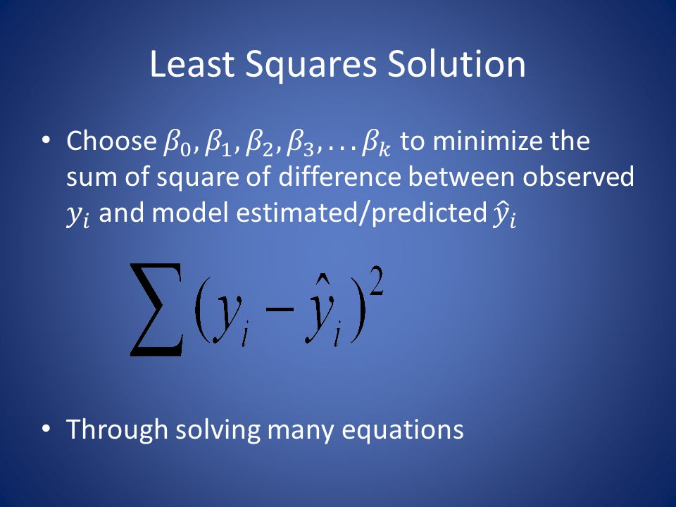 Least Squares Solution