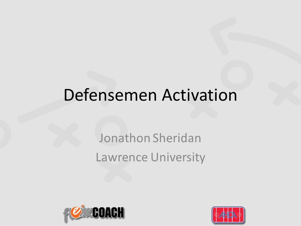 Defensemen Activation Jonathon Sheridan Lawrence University