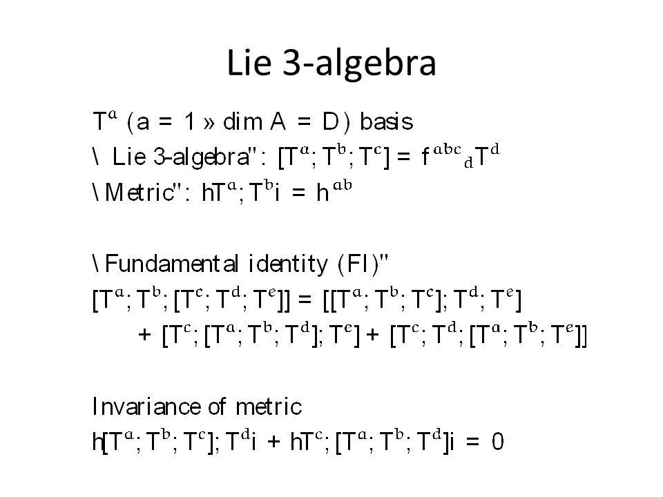 Lie 3-algebra