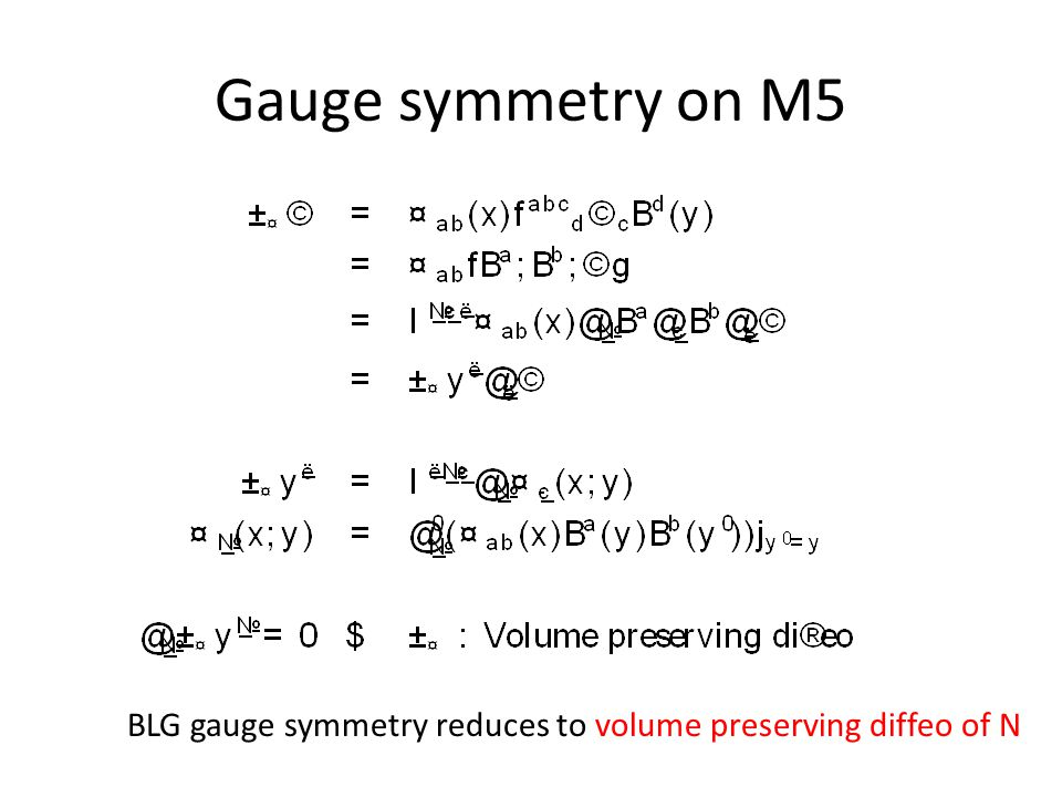 Gauge symmetry on M5 BLG gauge symmetry reduces to volume preserving diffeo of N