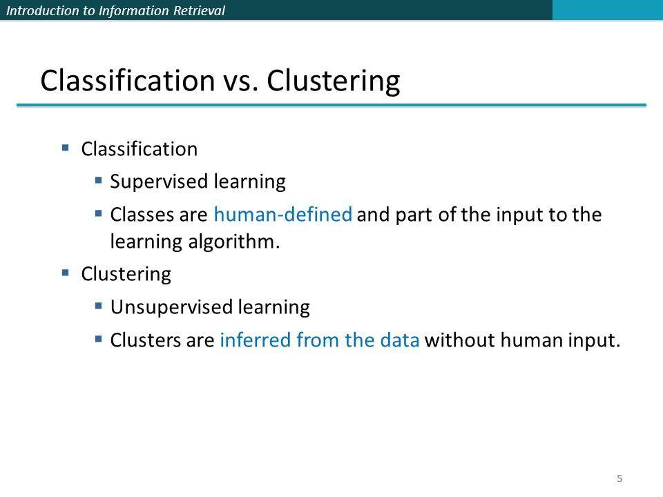 Introduction to Information Retrieval K-means algorithm 16