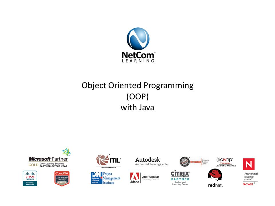 Object Oriented Programming (OOP) with Java