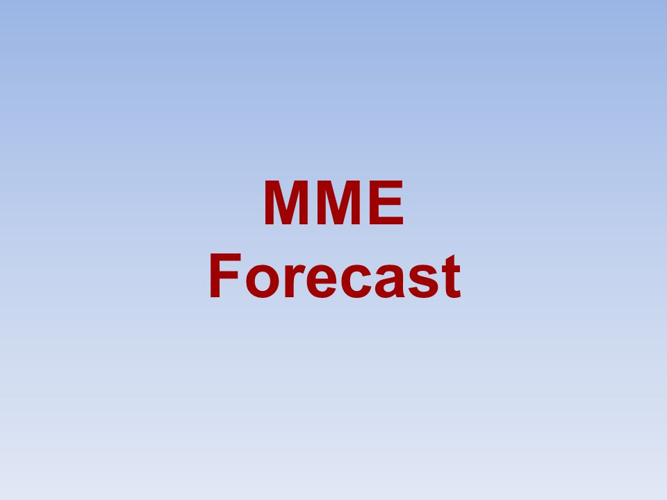 MME Forecast