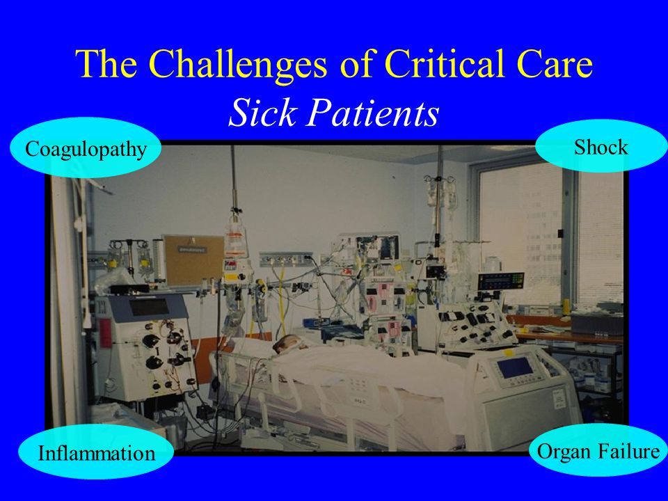 The Challenges of Critical Care Sick Patients Coagulopathy Inflammation Organ Failure Shock