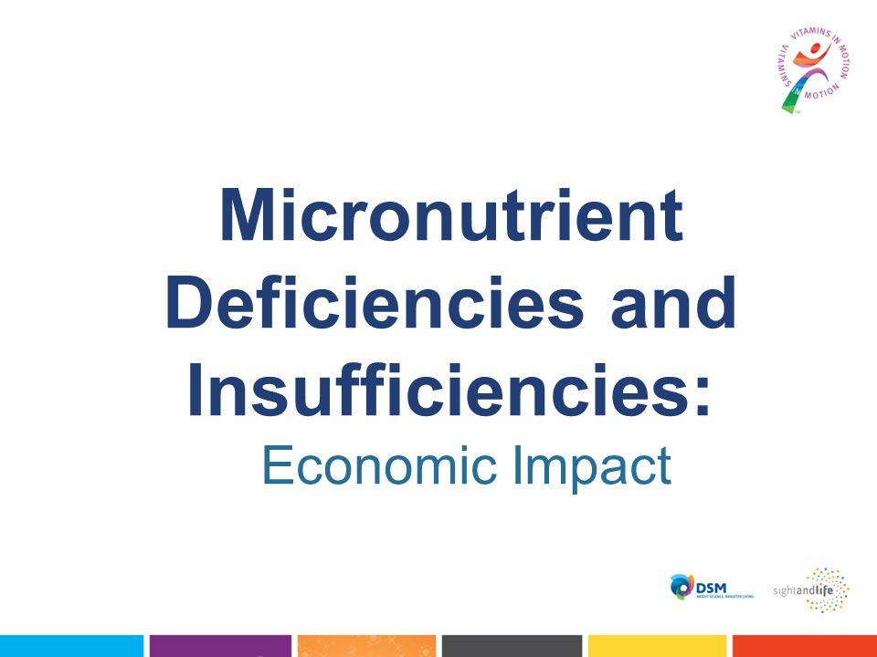 Micronutrient Deficiencies and Insufficiencies: Economic Impact