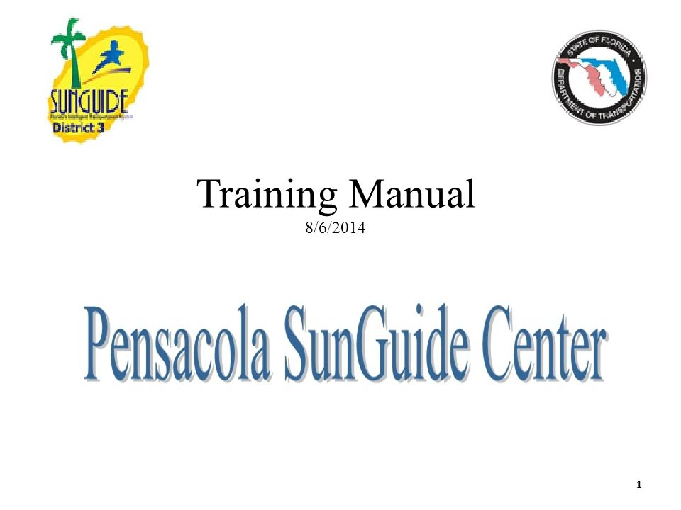 Training Manual 8/6/2014 1
