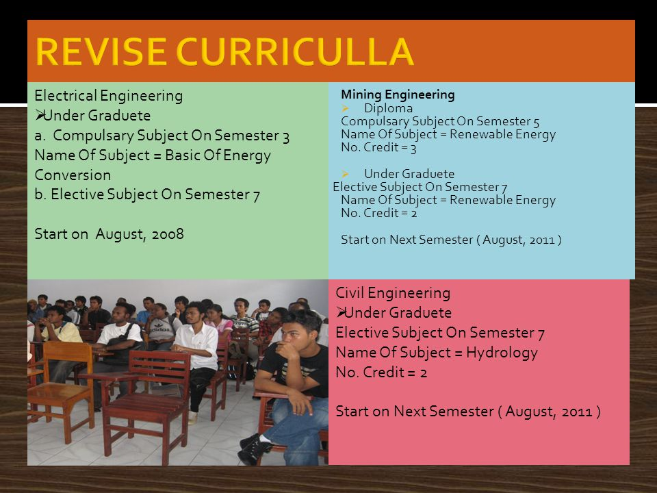Mining Engineering  Diploma Compulsary Subject On Semester 5 Name Of Subject = Renewable Energy No.