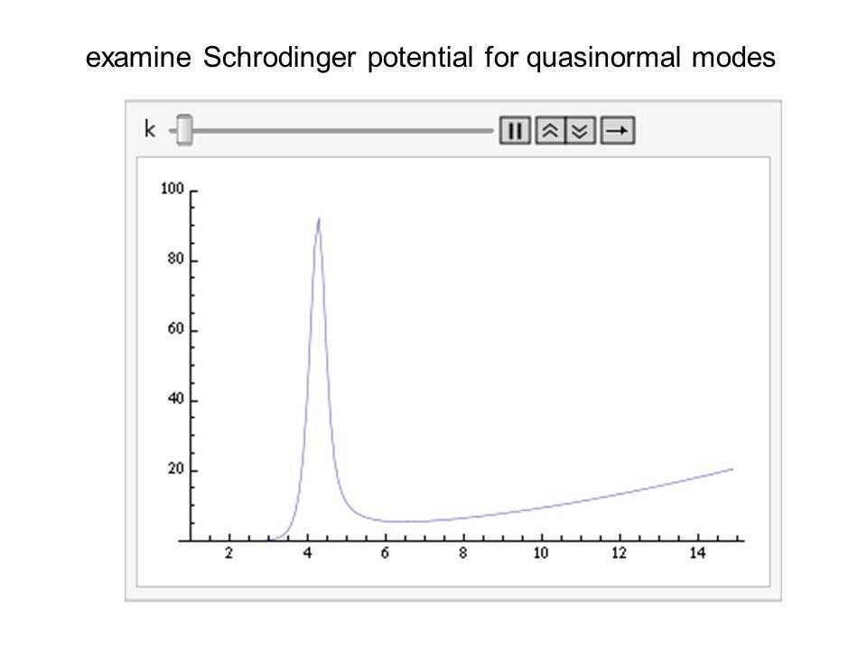 examine Schrodinger potential for quasinormal modes